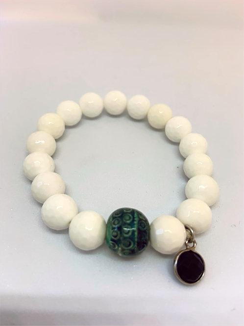 Bracelet en Agate blanche Collection Clay
