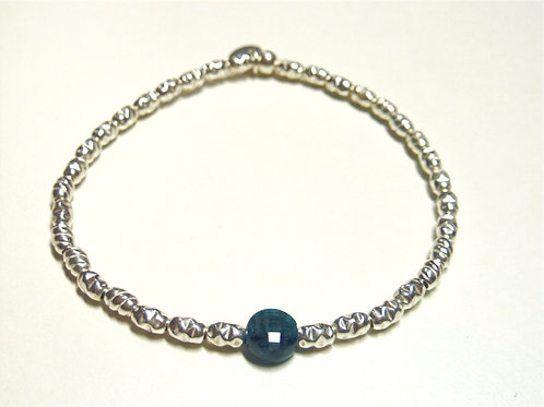Bracelet en Argent 925 et médaillon en Apatite