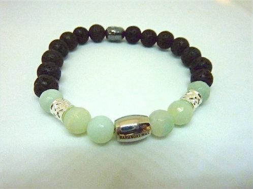 """Bracelet en Lave et Amazonite Collection """"BIG"""""""