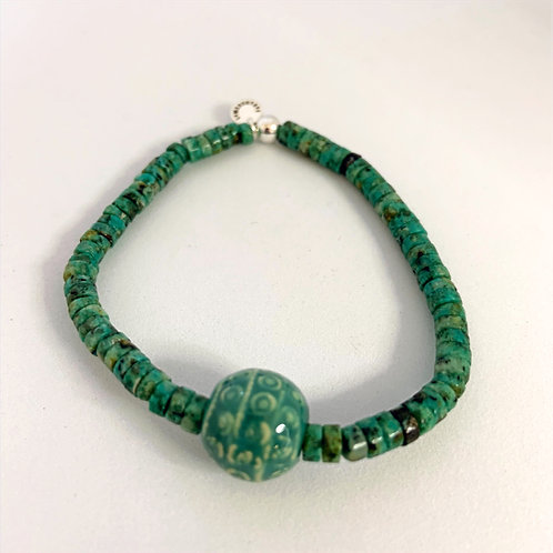 Bracelet en Turquoise Collection Clay