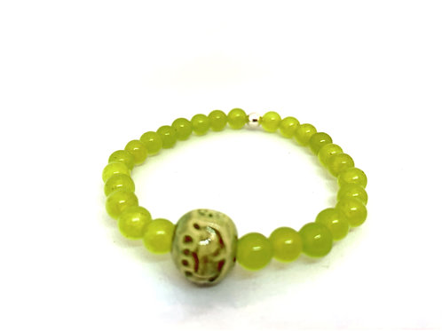 Bracelet en Jade verte Collection Clay