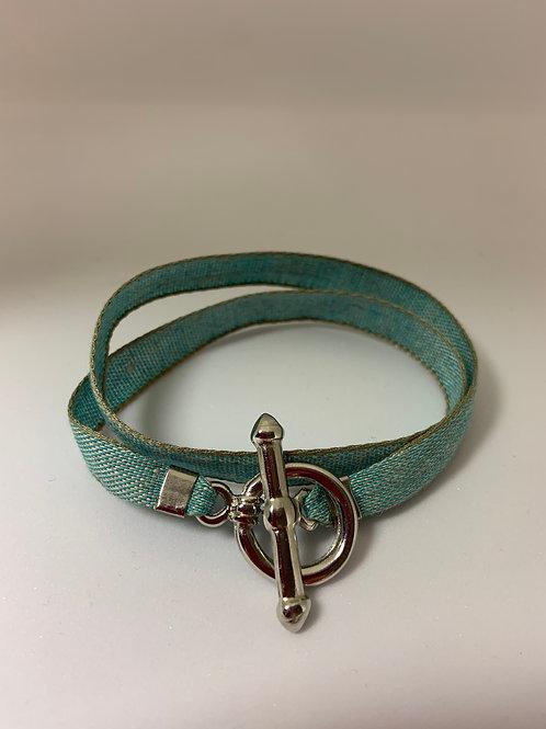 Bracelet ruban Montana bleu ciel