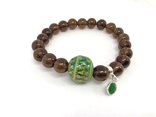 Bracelet en quartz fumé Collection Clay