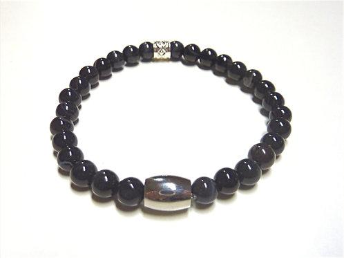 Bracelet en Agate noir veiné Collection BIG