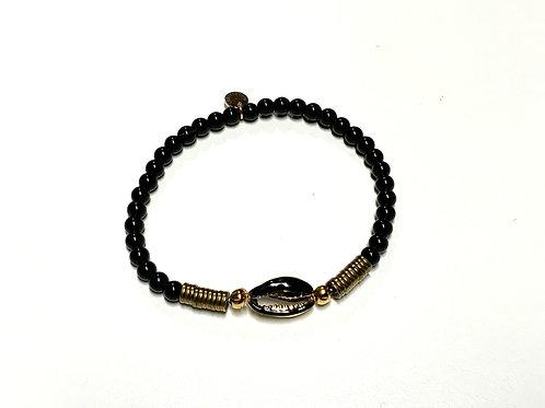 Bracelet en Onyx coquillage Cauri