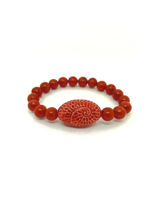 """Bracelet en Corail Collection Clay """"Spiral Oval"""""""