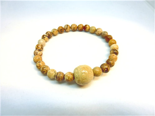"""Bracelet en Agate Coffee Collection Clay """"Rondes"""""""
