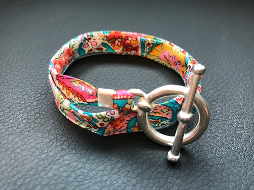 Bracelet ruban Liberty multicolor