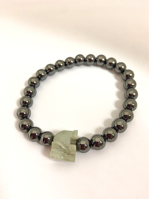 """Bracelet en hématite """"Elephant"""" pour homme"""