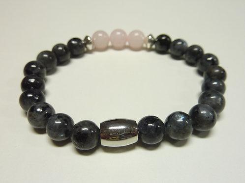 Bracelet en Larvikite et Quartz Collection BIG