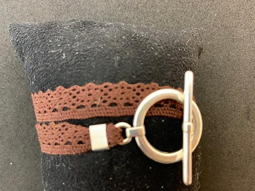 Bracelet ruban dentelle