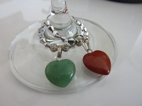 """Bijoux pour verre """"Les inséparables"""""""