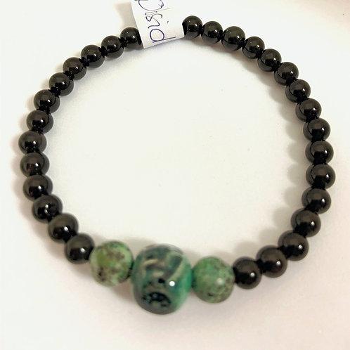"""Bracelet en Obsidienne Collection Clay """"Boule"""""""