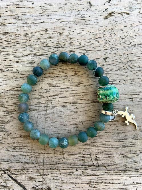 Bracelet en Agate mousse Collection Clay
