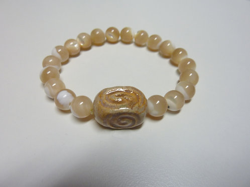 """Bracelet en nacre Collection Clay """"Rectangle Spiral"""""""
