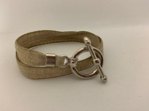 Bracelet ruban Montana beige