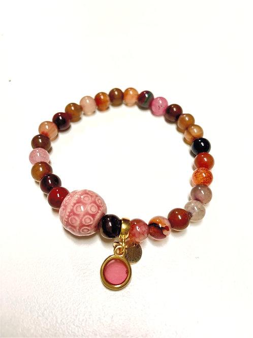 Bracelet en Agate multiple Collection Clay