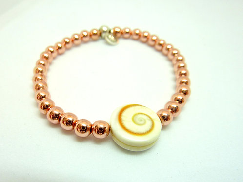 Bracelet en Hématite rose intercalaire St-Lucie