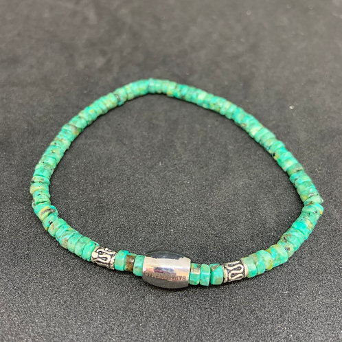 "Bracelet en Turquoise rondelle Collection ""BIG"""