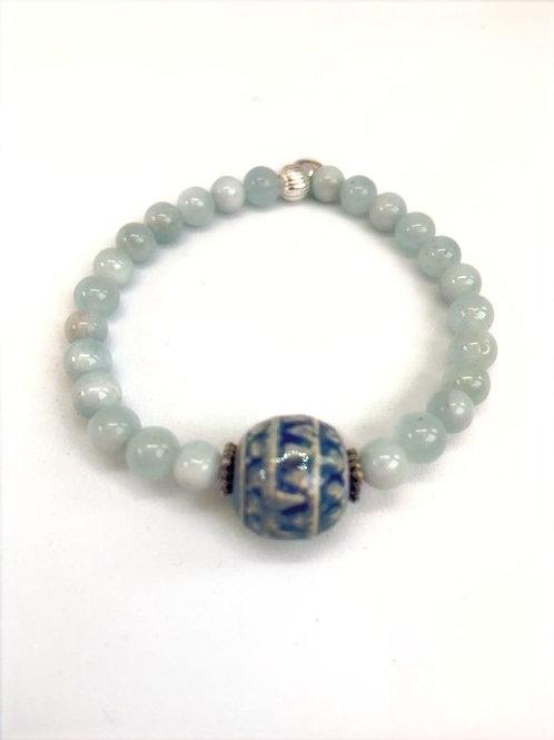 "Bracelet en Aigue-marine Collection Clay ""Round"""