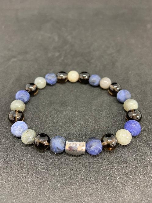 """Bracelet  en Sodalite, Quartz et Labradorite Collection """"BIG"""""""