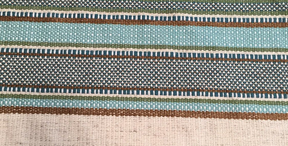 Boho Blue Turquoise Woven R/R Stripe