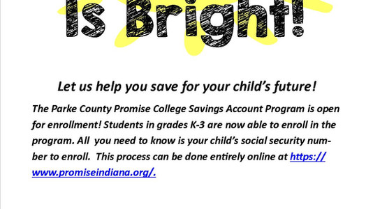 Parke County Promise Enrollment Open