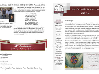 PCCF Special 25th Anniversary Newsletter Edition