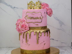 Fondant Covered Tiered Cake