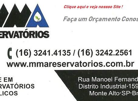 Reservatório e Tanques Metálicos MMA