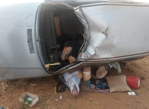 Acidente em Monte Alto na vicinal de acesso a Ibitirama