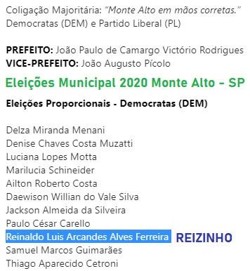 Democratas Monte Alto lança seus candidatos a vereador