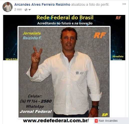 Mkt-RF Reizinho 16 99 764 - 2580 Jornalista Rede Federal