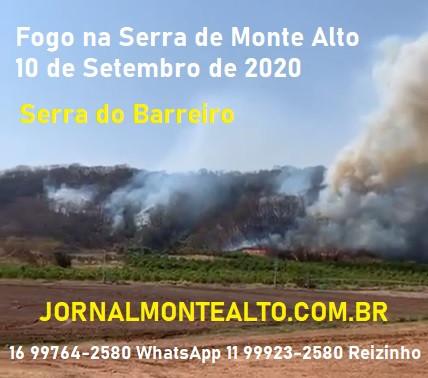 FOGO NA SERRA EM MONTE ALTO - SP