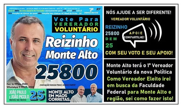 25800 Reizinho 1º Vereador Voluntário de
