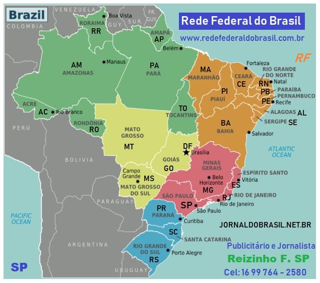 Mapa do Brasil e seus estados