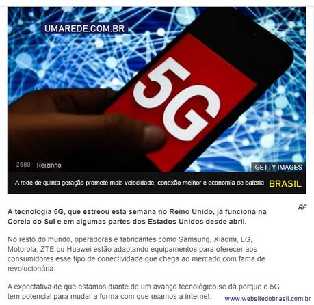 5G internet no Brasil