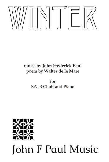 Winter - SATB choir and piano
