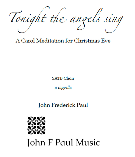 Tonight the angels sing - SATB choir
