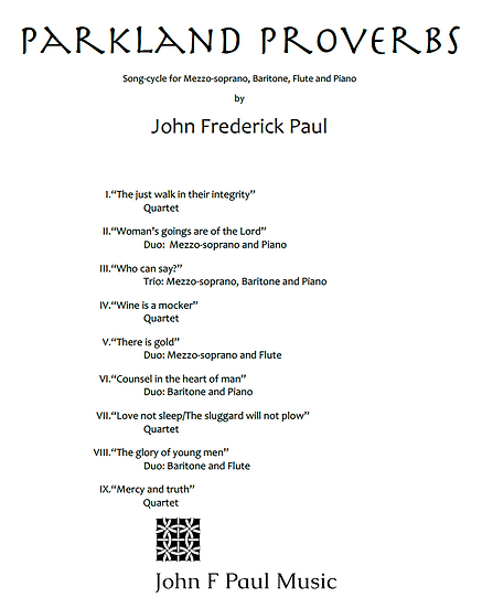 Parkland Proverbs