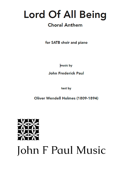 Lord of All Being - anthem - SATB choir and piano
