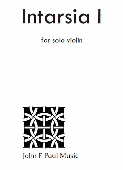 Intarsia I for solo violin