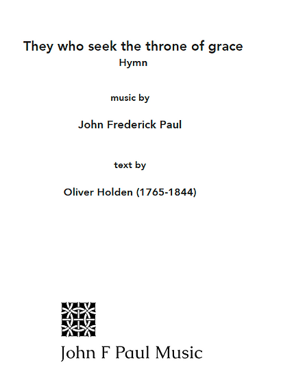 They who seek the throne of grace - hymn