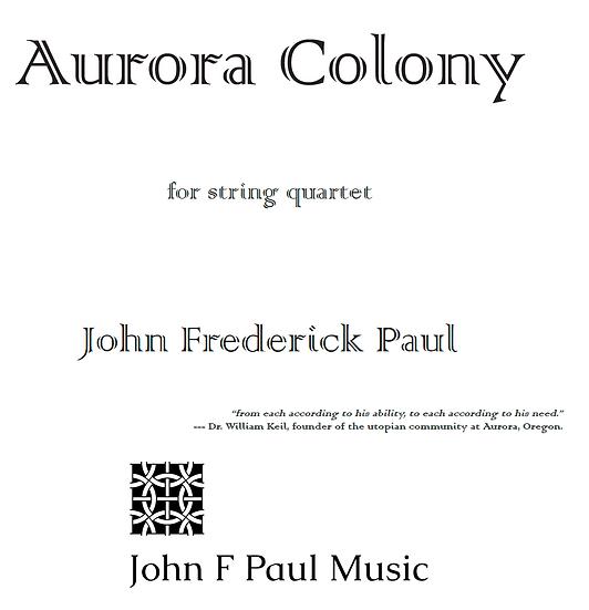 Aurora Colony for String Quartet