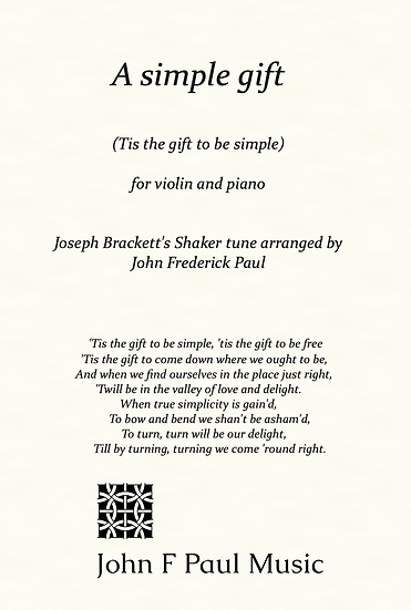 A simple gift - for violin and piano