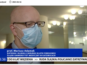 "TVP3 Katowice: ""Walka o oddech. Rak płuc w pandemii i badaniach"""