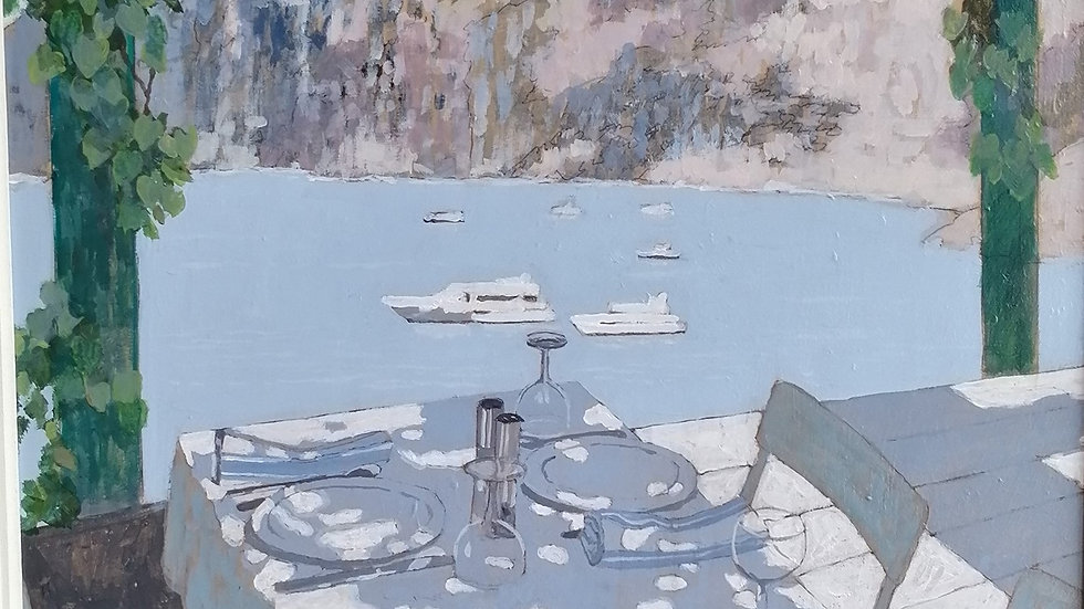 table set by the Sea