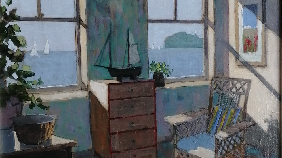 """""""Sunlit room early Summer"""" by Mike Hall"""