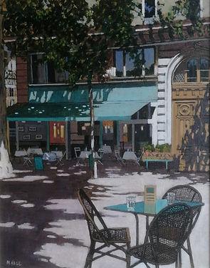 Paris_cafe._acrylic_on_board_20x16in_Gal