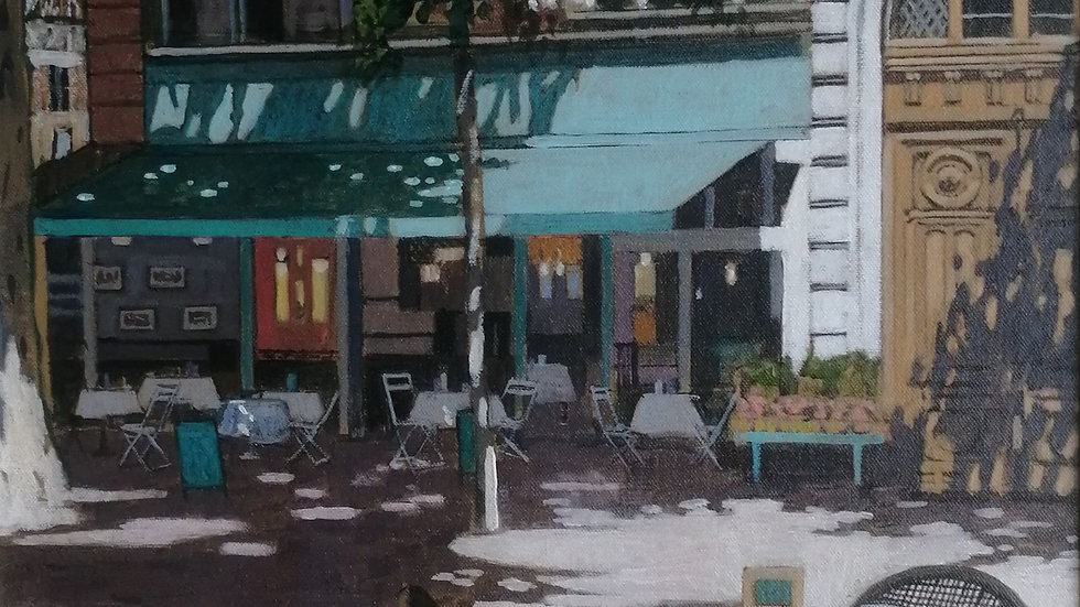 """""""Paris Cafe"""" by Mike Hall"""